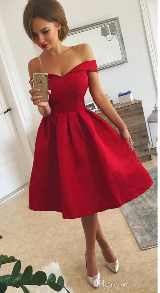 Imagenes De Vestidos De Noche Cortos Color Rojo Vestidos