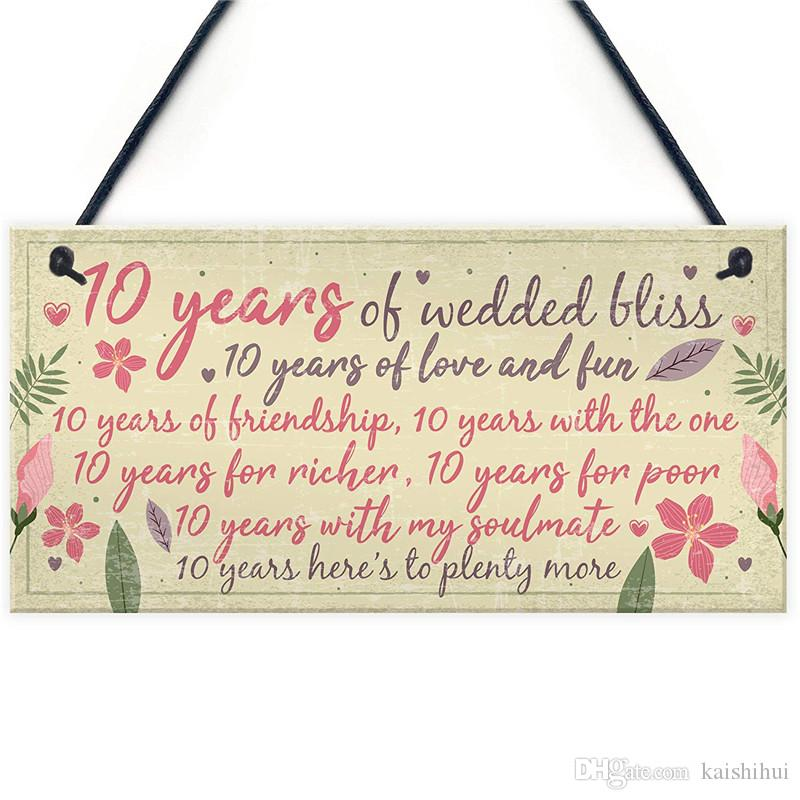 Online Wedding Anniversary Gifts: 10th Wedding Anniversary Card Gift For Husband Wife Ten