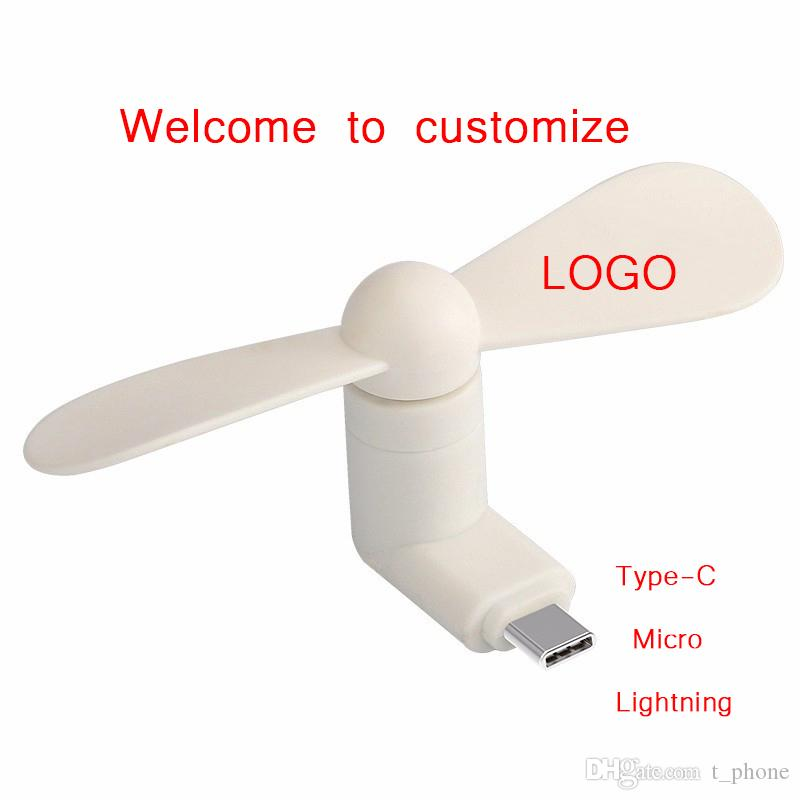 Accept Custom Type-c Cute Flexible Mini Cool Hand Fans for iPhone Android Micor Type-C Interface Mobile Phone Fan