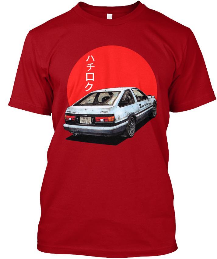 Ae86 Initial D Trueno Japan Movie Mens Popular Tagless Tee T-shirt