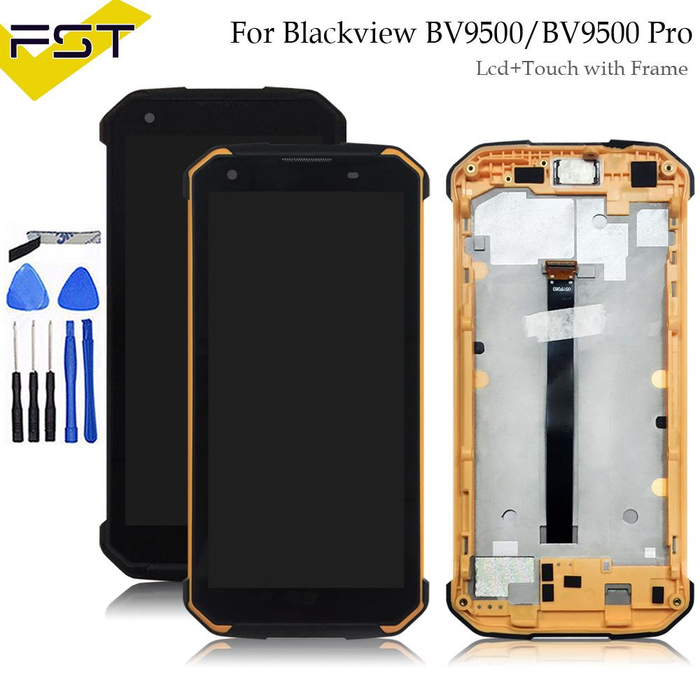 100% Tested Display Lcd with Touch Screen Digitizer For Blackview BV9500 /  BV9500 Pro Lcd With Frame Assembly Replacement Parts