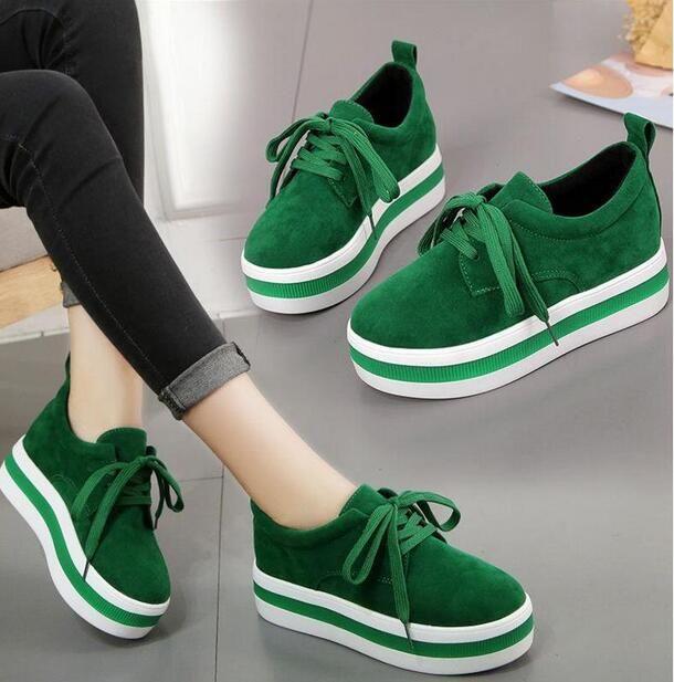 e127801e Compre Zapatos De Plataforma De Gamuza De Las Mujeres Con Cordones De Cuero  Nubuck Moda Mujer Princetown Señoras Confort Zapatos Casuales Pisos Nuevo  Tamaño ...