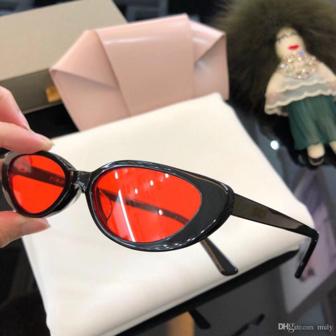 77d4b33b2 Compre Óculos De Sol CHARMA Style Designer De Marca De Luxo Óculos De Sol  Para As Mulheres Dos Homens Tide Marca Série Gatinho Olhos Literary Art  Fresh 52mm ...