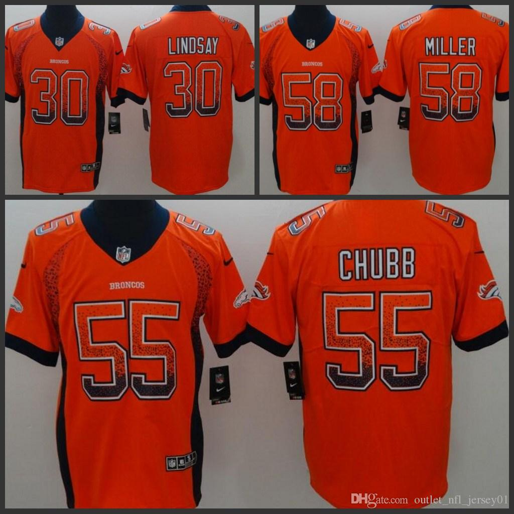 the latest f98da 58adb Denver Men Broncos Jersey #55 Bradley Chubb 58 Von Miller 30 Phillip  Lindsay Women Youth Drift Fashion Color Rush Limited Jerseys