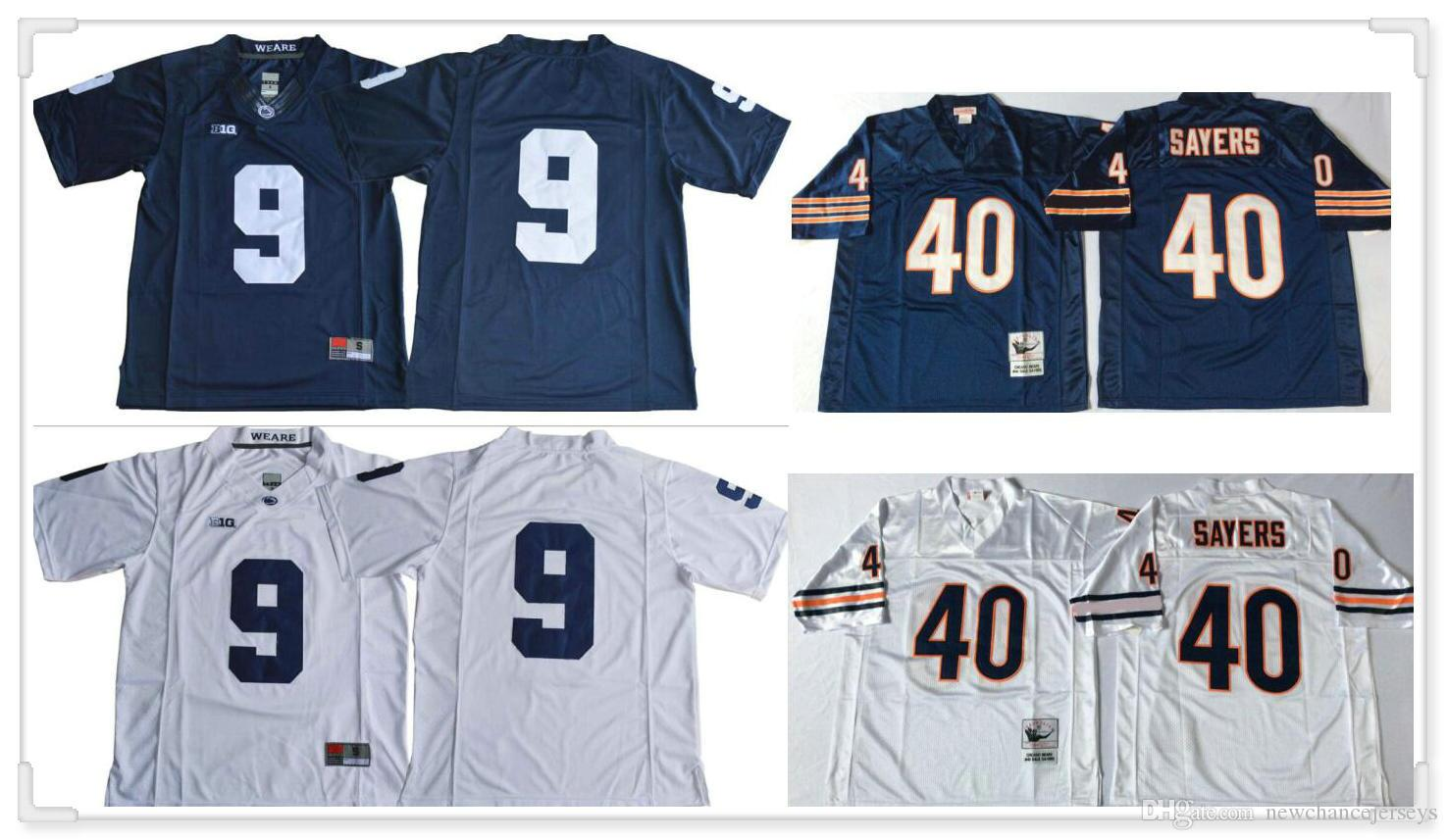 Mens College Penn State Nittany Lions #9 Trace McSorley 40 Gale Sayers 95 quinnen williams Vintage American Football Uniforms Sports Jerseys