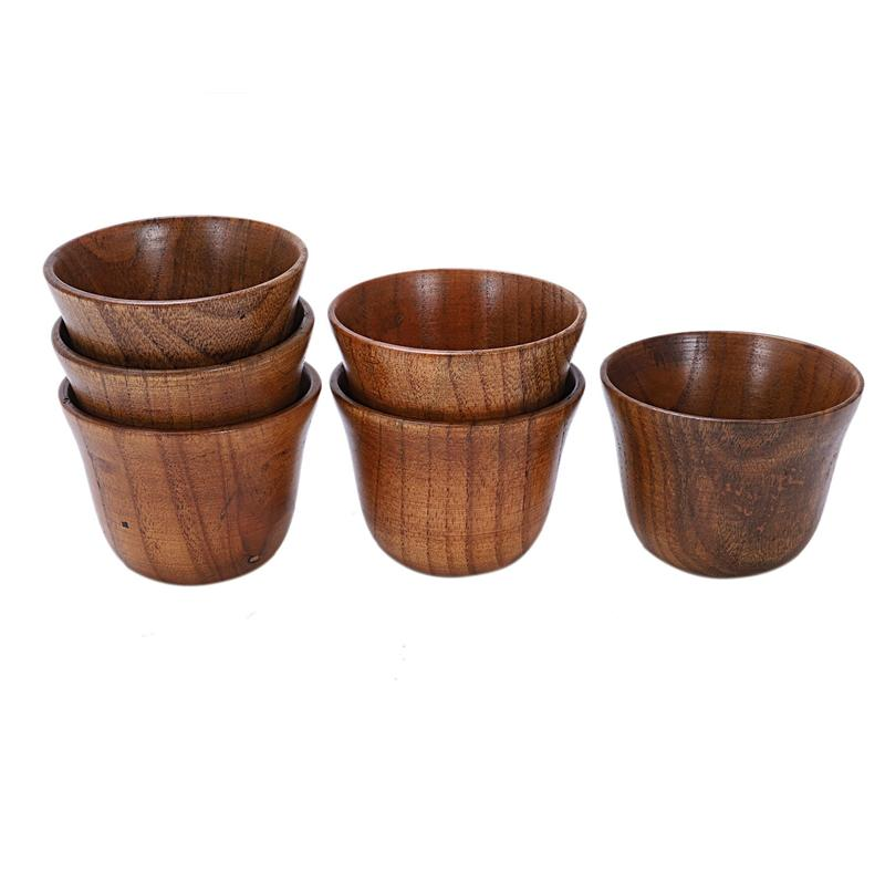 30pcs creative tea set small wooden cup small cup anti-side wooden cup and natural wood wine glass wooden tea free shipping