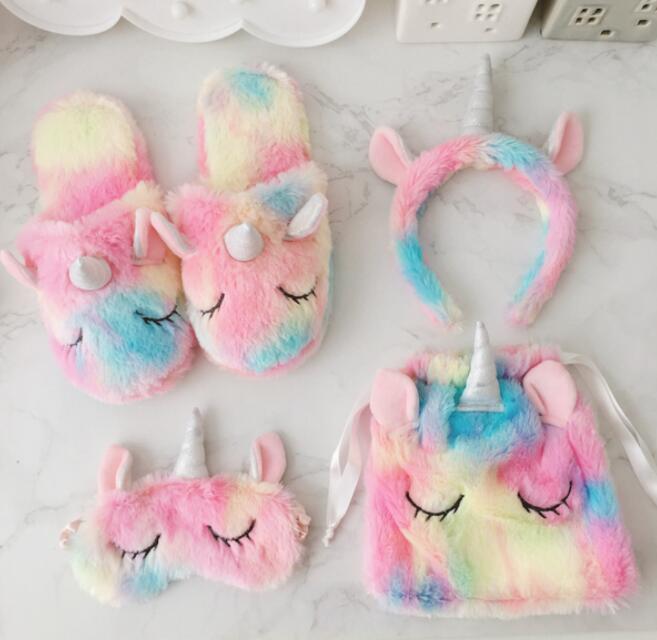 b11c37ed6 Winter Plush Slippers Hearts Ice Cream Unicorn Hair Mask Bag Unicorn Warm  Indoor Shoes Girls Home Bedroom Non Slip Floor Slippers GGA1442 Gags And  Gifts ...