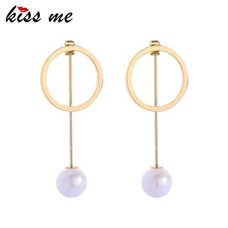 Elegant Round Simulated Pearl Pendant Drop Earring Separable Women Drop Earrings For Party Fashion