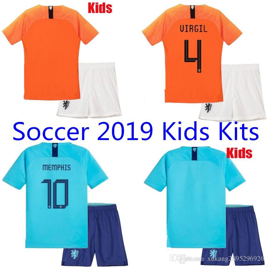 0917ce0379610 Compre 2018 2019 Holanda Uniformes De Futebol