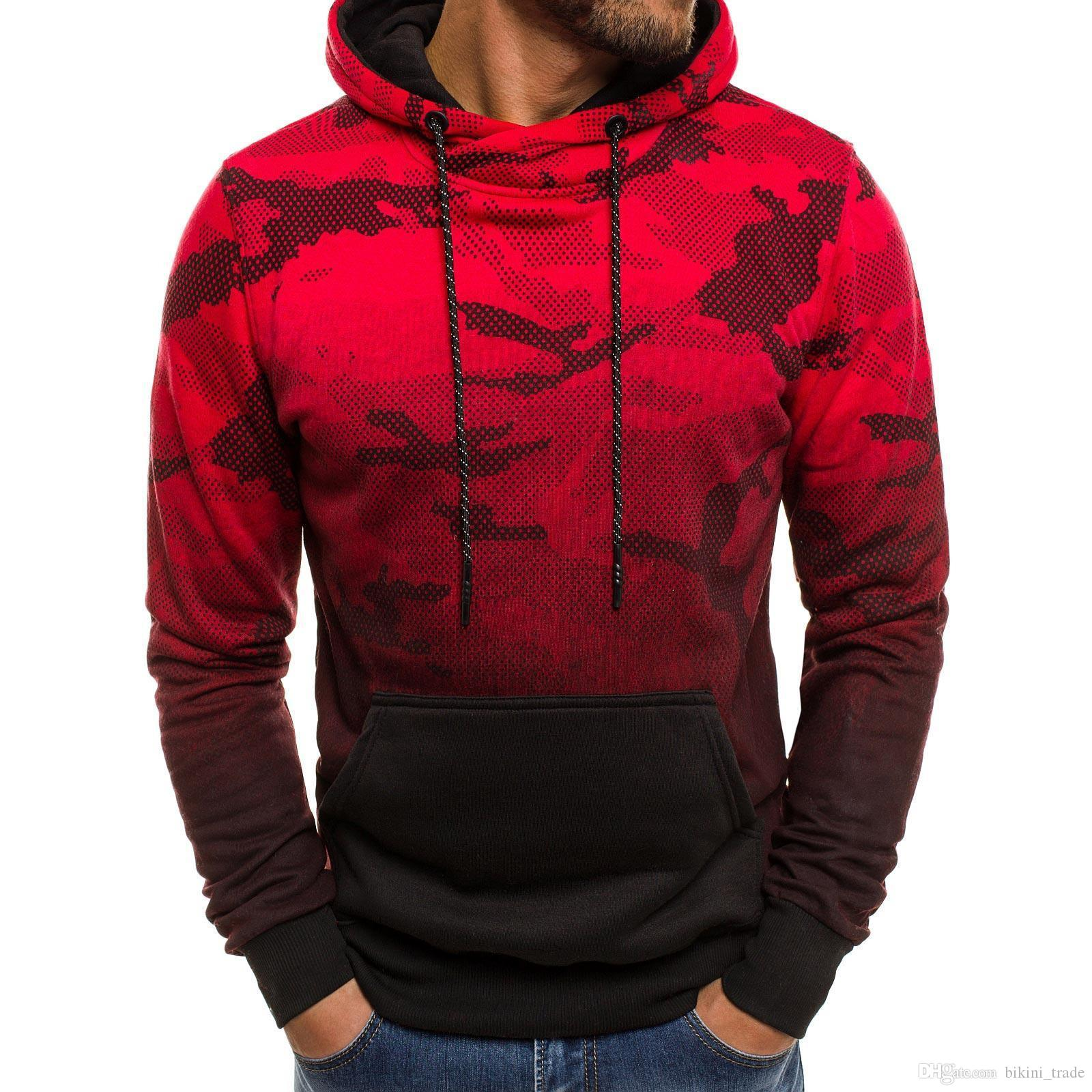 size 40 dc638 aba7b Camo Sweatshirt Herren Langarm Camouflage Style Hoodie Pullover Top Bluse  Militär Trainingsanzug Mit Kapuze 3XL Plus Größe