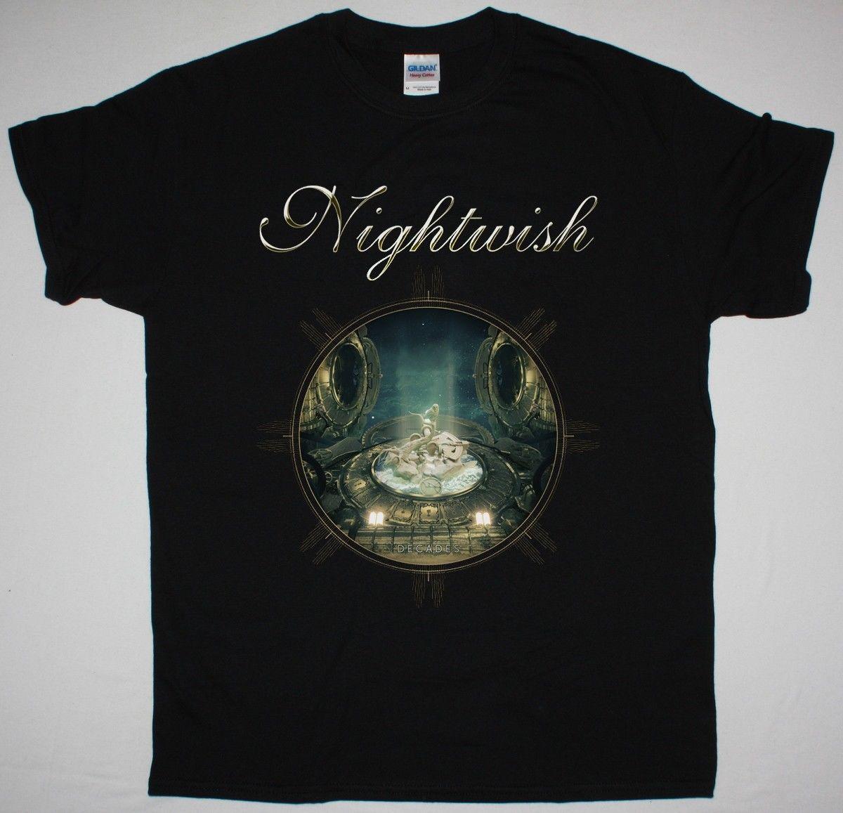 70f188cde2f NIGHTWISH DECADES NORTH AMERICA 2018 TOUR BLACK T SHIRT SYMPHONIC METAL  Irish T Shirts Art T Shirts From Cheaptshirts48