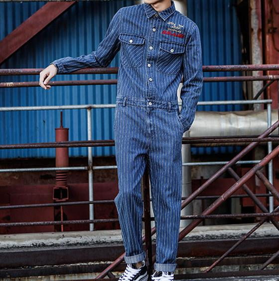 detailed pictures provide plenty of for whole family 2019 Jeans Jumpsuits Men Spring Autumn Long Sleeve One Piece ...
