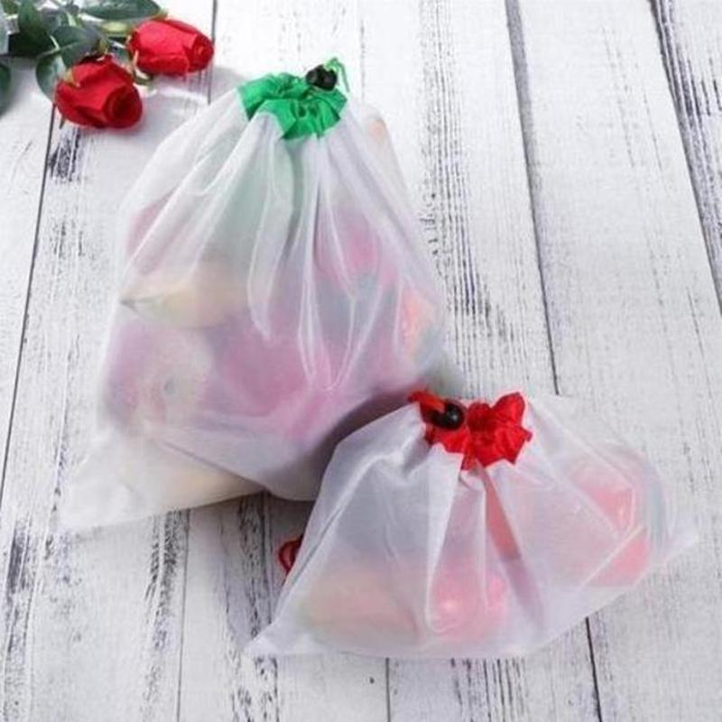 Washable Eco Friendly Bags 12pcs Reusable Mesh Produce Bags Shopping for Grocery Shopping Storage Fruit Vegetable Toys
