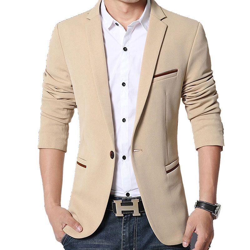 Otoño Para Delgado Marca Primavera Blazers Moda Casual Compre Hombre xnXH7Z88
