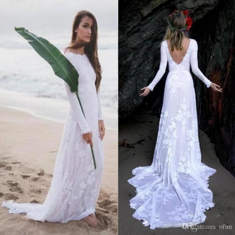 Vestidos de novia elegantes y sencillos 2019
