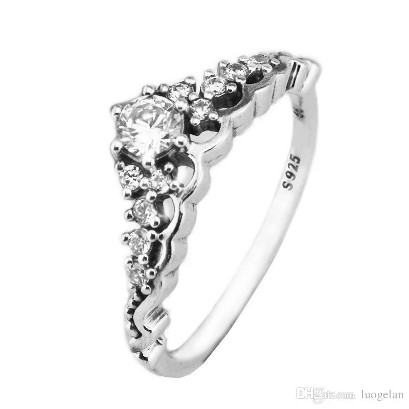 Rings Compatible with Pandora Jewelry Fairytale Tiara Silver Ring For Women original 100% 925 Sterling Silver jewelry Ring wholesale
