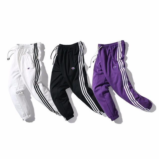 2019 new high-end sports pants casual pants lovers feet pants bilateral letters striped cotton towel 718 5945758453