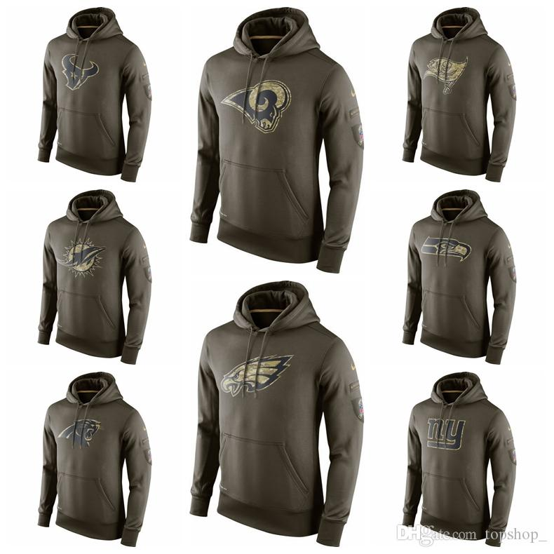 in stock c6270 122ce Top Quality Hooded sweatshirt Men Salute to Service Sideline Performance  Hoodie Sweater Texans Buccaneers Rams Panthers Dolphins Seahawks
