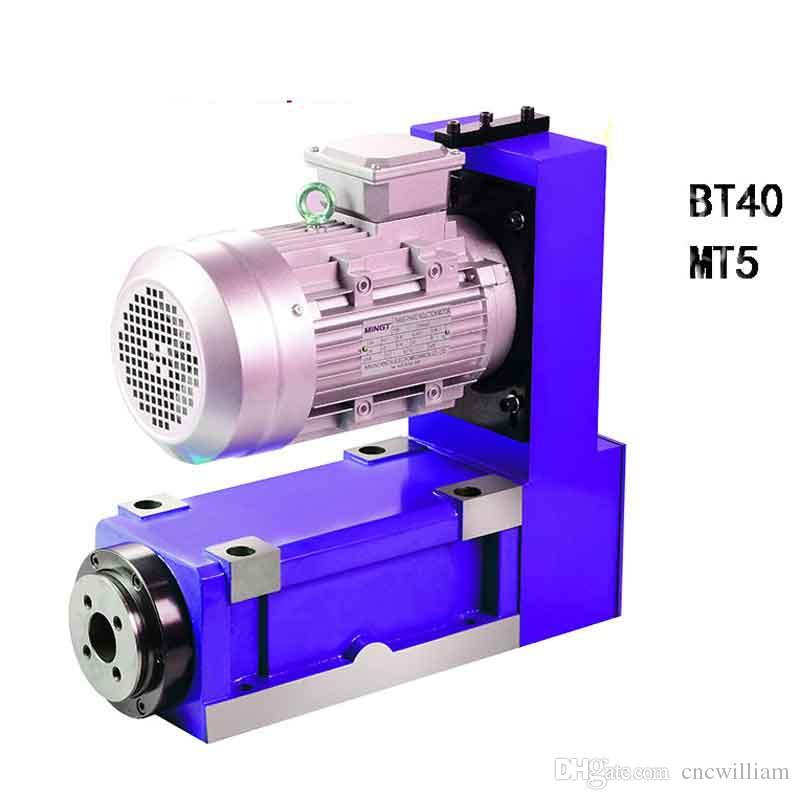 MT5 BT40 spindle Power Head 4000r/min 3KW 380VAC V-belt induction motor Machine spindle Milling cutting Drilling boring