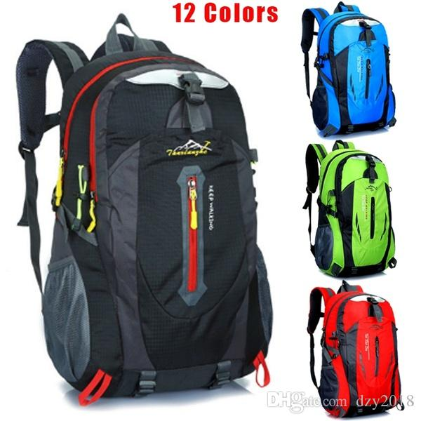 39c43d2a50bb 40L Outdoor Travel Backpack Sports Bag Camping Backpack Hiking Rucksack  Students Backpack Water Resistant Hiking Bag Men Women