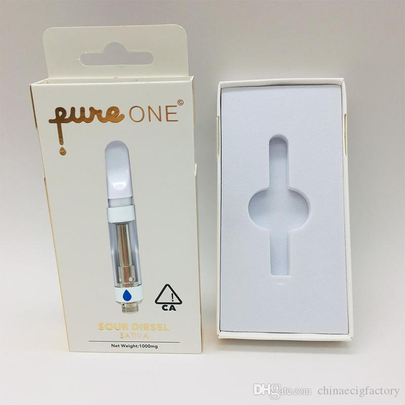 Pure One Cartridges 0.8ml 1.0ml Keramikspiralenspitzen Pure One Vape Cartridges leeren 510 Thread Cartridges Verpackung Einpresszerstäuber Verpackung