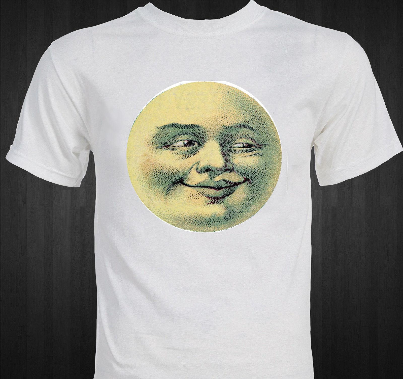 Man in the Moon Funny Victorian-era Postcard T-shirt Funny free shipping Unisex Tshirt top