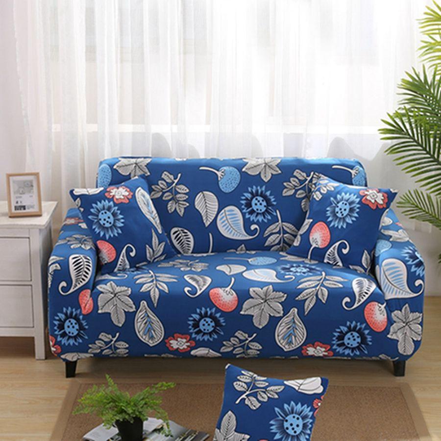 4 Size Elastic Sofa Cover Fabric Retro Multi Colors Printing Home