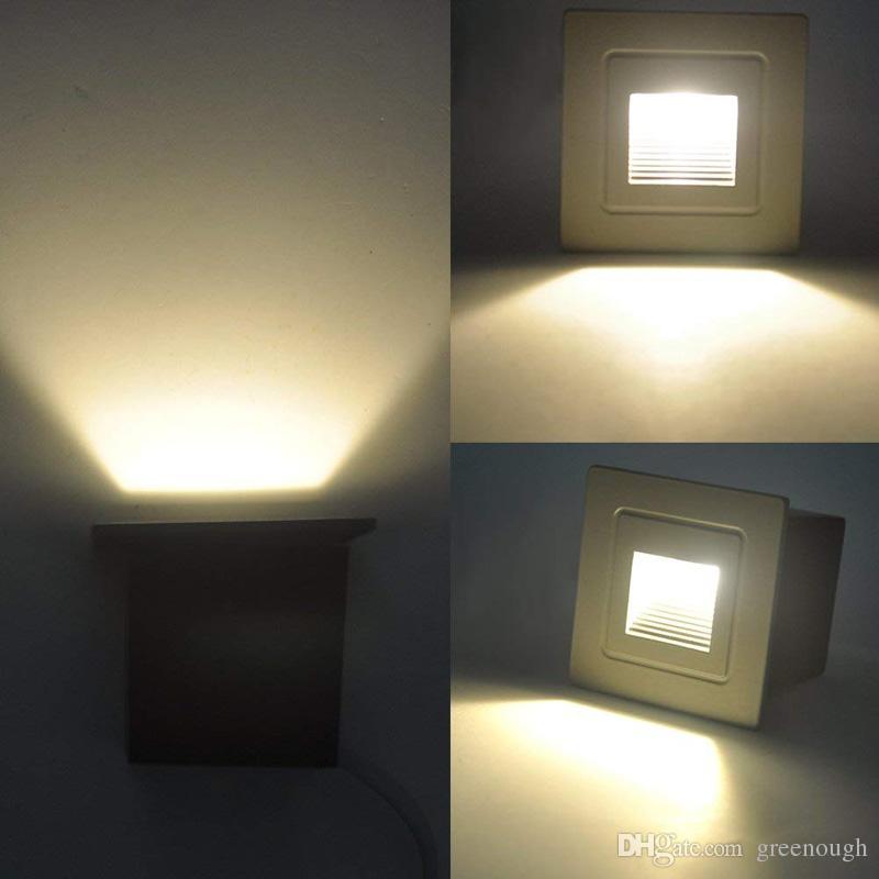 Paysage Coin Étanche Lumière Lampe Pont 1pc Encastrable 3w Nuit Intérieur Extérieur Led Étape Escalier Allume Murale mNnv8w0O