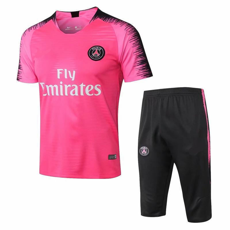 factory price 01531 72148 New 19/20 pink black paris saint germain soccer training suit tracksuit  MBAPPE football shirt adult training suit skinny pants Sportswear