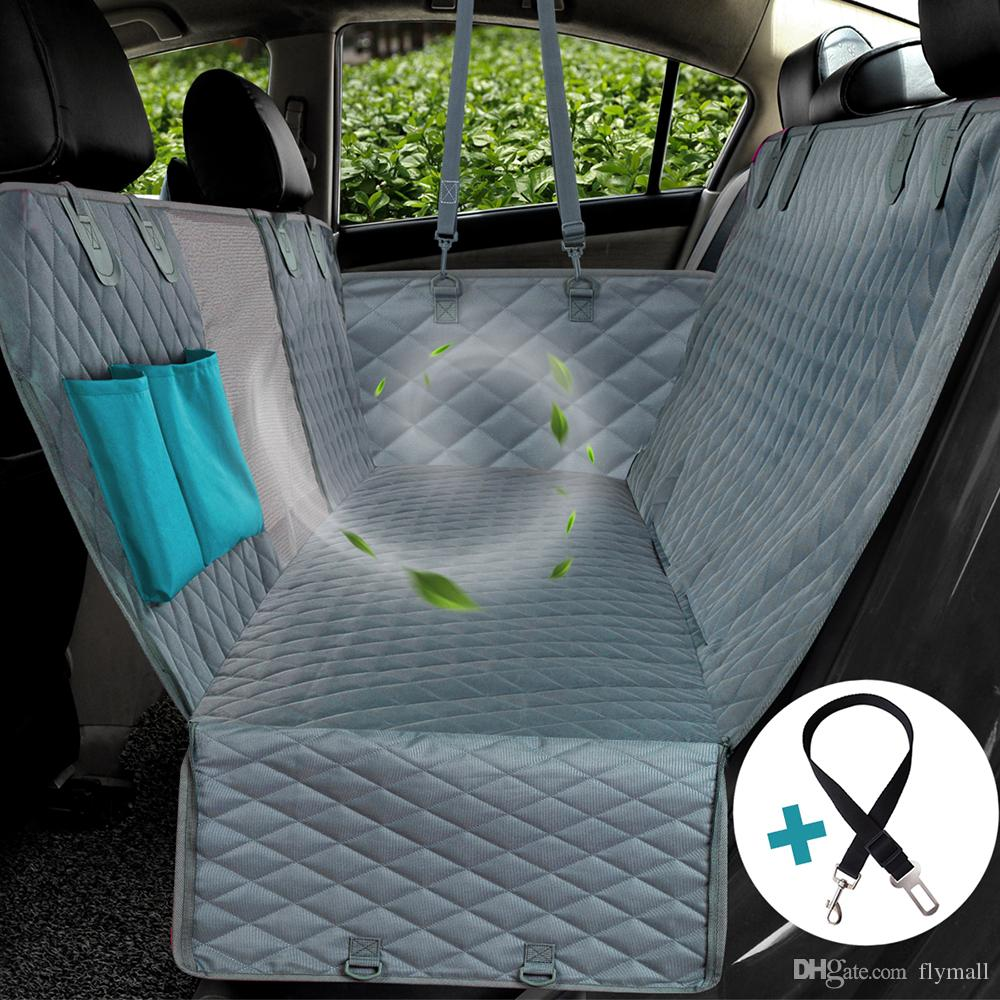Dog Car Protector >> Dog Car Seat Cover View Mesh Waterproof Pet Carrier Car Rear Back Seat Mat Hammock Cushion Protector With Zipper And Pockets