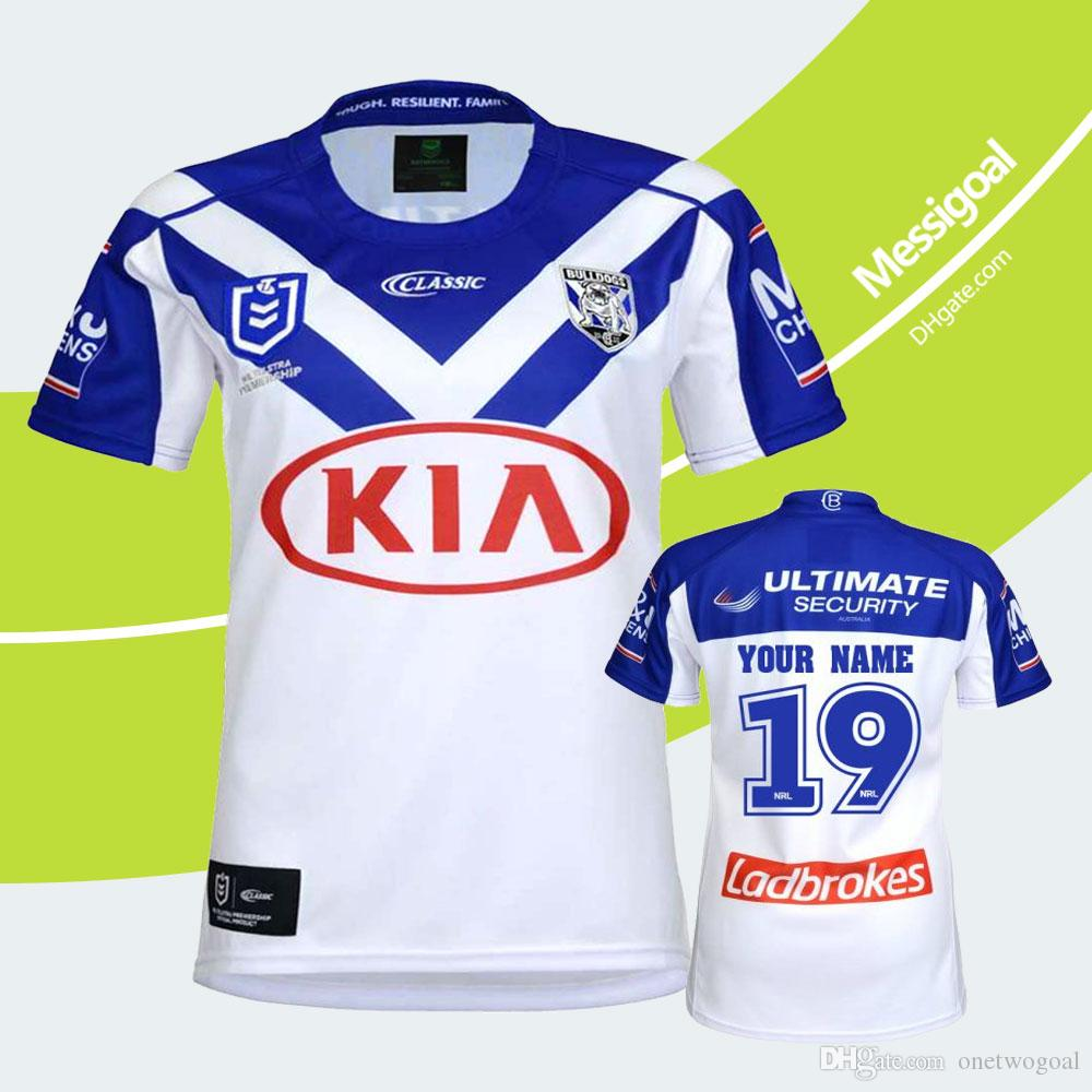 official photos 72a8b 93886 Bulldogs Rugby Jerseys 2019 NRL National Rugby League Bankstown Bulldogs  Jersey Printing Rugby Shirts Size S-3XL Customize Name and Number