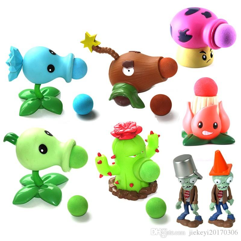 High Quality PVZ Plants vs Zombies Peashooter PVC Action Figure Model Toy  Gifts Toys For Children