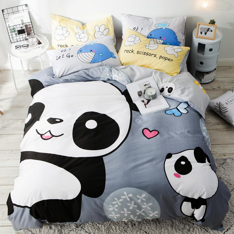 100 Cotton Panda Bedding Set Single Size Panda Bear Bedding Duvet