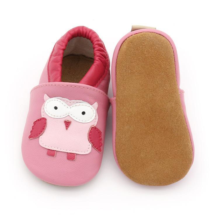Tout-petits enfants bébé fille douce Sole Lit Chaussures Nourrissons Mignon Chaussures en cuir de vache Premier Walkers Nouveau-né prewalker Rose pourpre