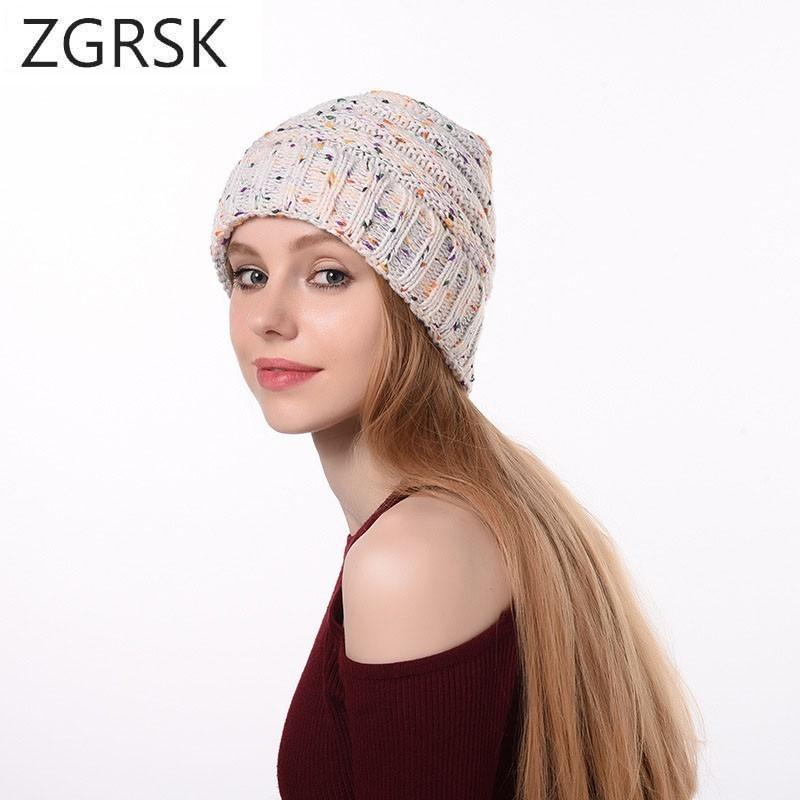 Adult Outdoors Womens Winter Caps Warm Hats For Cap Women Beanies Women S  Fashion Point Knitting Hats Knitted Pom Pom Hat Skull Cap Beanie Boo From  ... 7f82bef0bd63