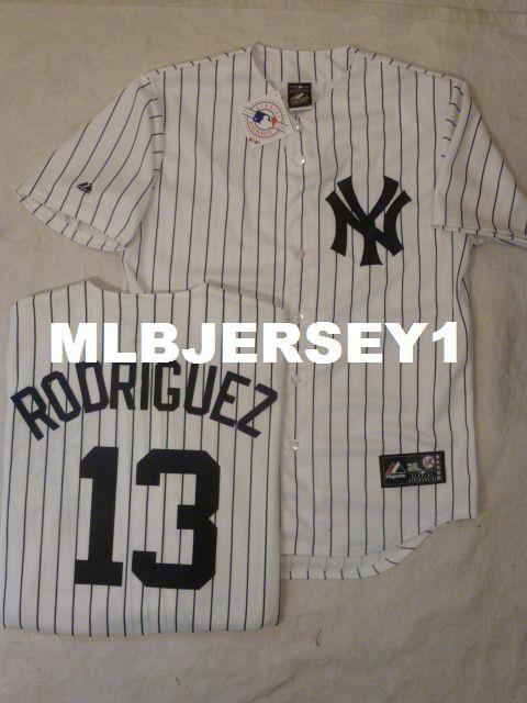 40bff6e952a Cheap Custom MAJESTIC New York  13 ALEX RODRIGUEZ W Name SEWN ...