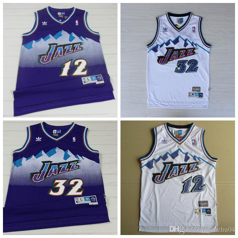 504def55a378 2019 Karl Malone Hardwood John Stockton Utah Mitchell Ness 1996 97 Jazzs Classics  Swingman Jersey Purple From Gouzhu04