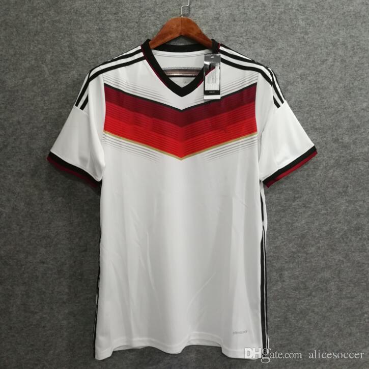 competitive price 106fa 98c3f ^_^ 2014 Retro Germany Soccer Jersey Muller Kroos Schweinsteiger Ozil 14  Jersey Trikot Vintage Lahm Football Shirts Camiseta Maillot
