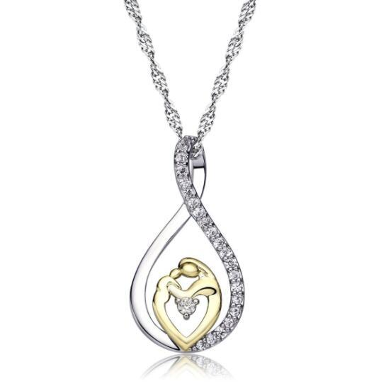 Wholesale Moms Jewelry Birthday Gift For Mother Baby Heart Charm