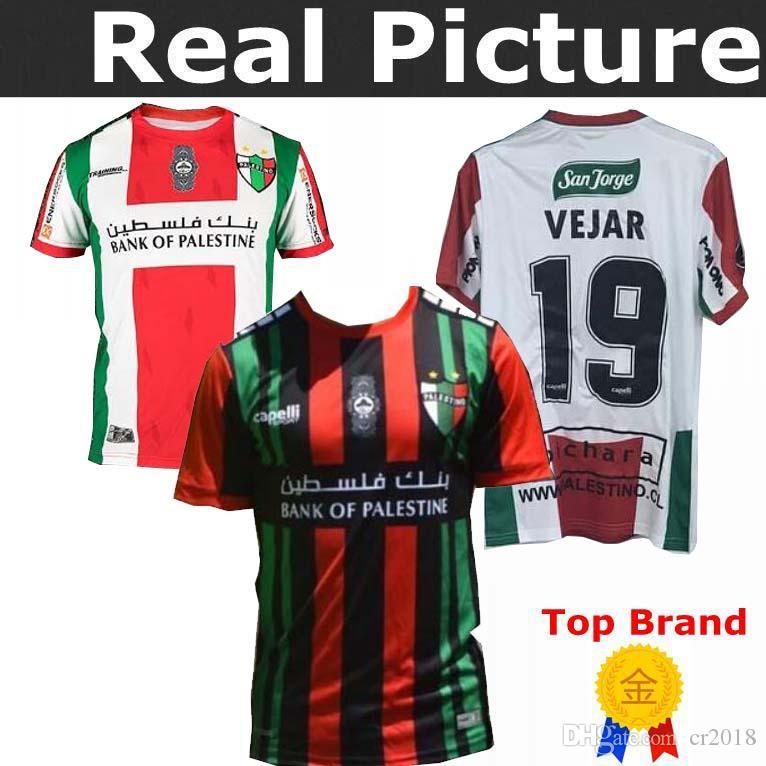 fef75abce77 2019 Palestino Deportivo Jersey 2019 2020 VEJAR  19 SOTO  20 PASSERINI  9  JIMENEN  10 JORQUERA  8 Home Away Football Shirts From Cr2018