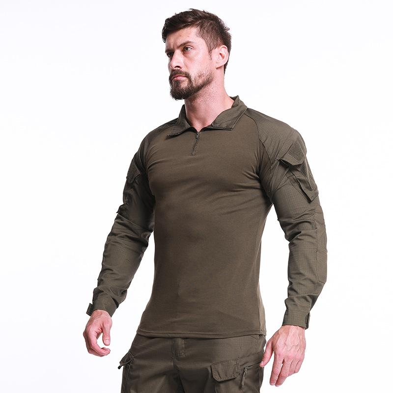 US Army Tactical Shirt Uniform Camouflage Kampferprobte Hemden Langarmhemd Battle Strike Army T-Shirt Herren