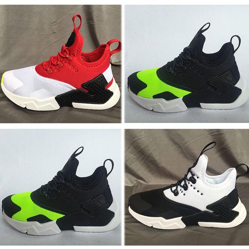 best service 00146 7ccb2 Acheter Nike Air Huarache 2018 Air Huarache Drift Infantile Chaussures De  Course Enfants Sport Blanc Enfants Huaraches 6 Designer Hurache Baskets Bébé  ...