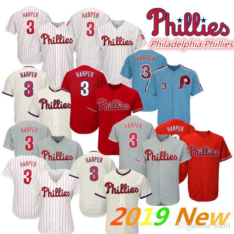 reputable site 77622 bbac0 Phillies Bryce Harper Jersey white Red Grey Blue Philadelphia baseball  jersey