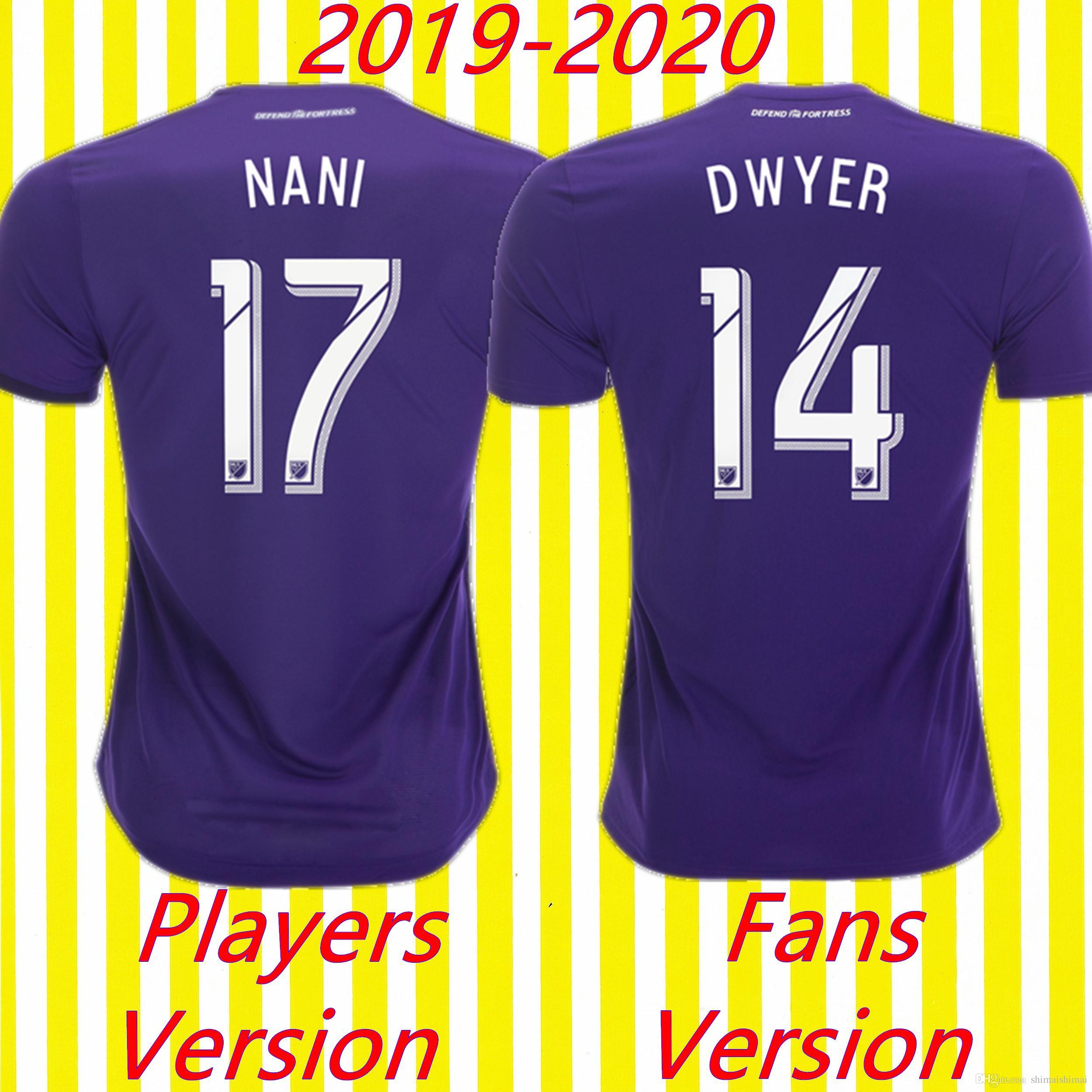 0381ce4273a 2019 MLS Patch Player Version Fans Edition Thai Quality Orlando Soccer  Jersey City 19 20 Football Kit Shirt 2019 2020 Futbol Club NANI DWYER From  ...