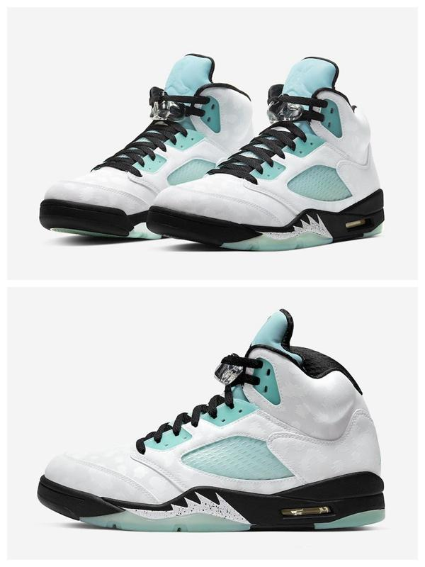2020 The New 2020 Jumpman 5 Island Green Basketball Shoes ...