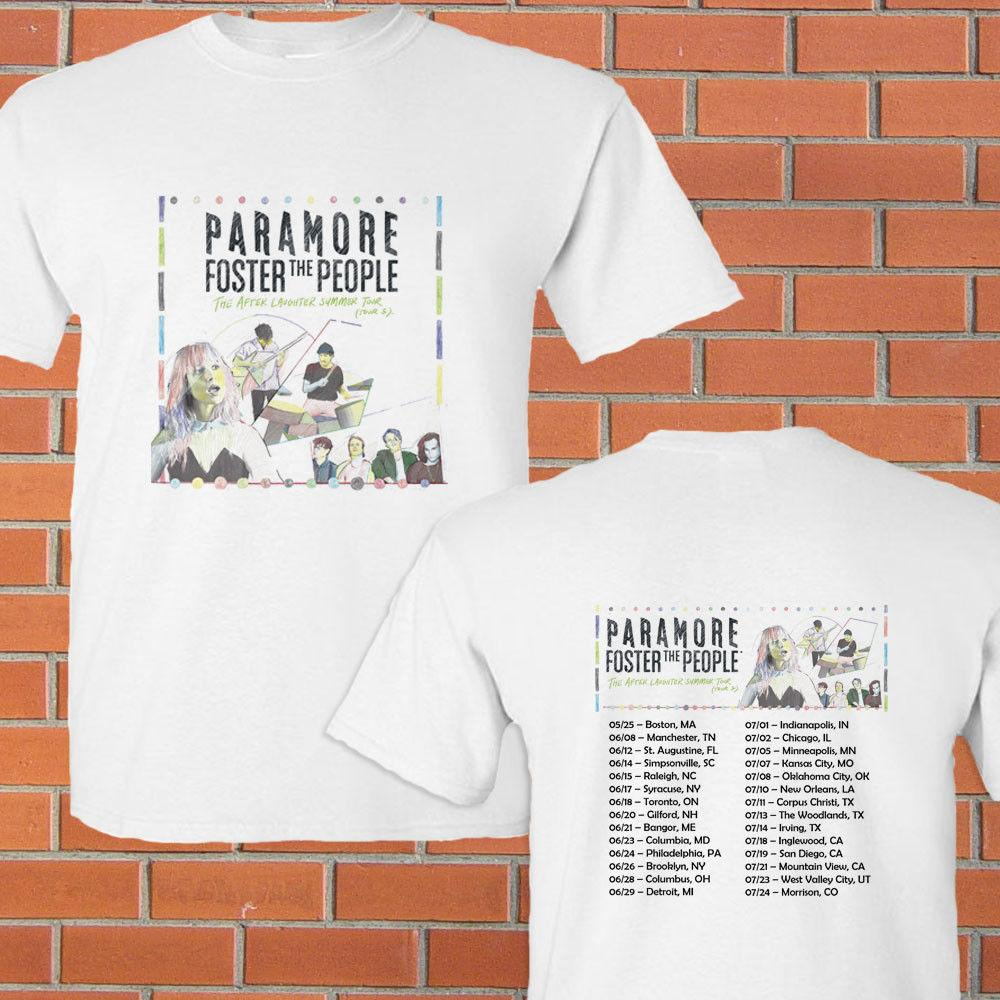 Paramore The After Laughter Summer Tour Concert 2018 White Tee Shirt