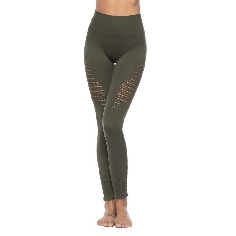 43ffad8a7 2019 Seamless Workout Leggins Stylish Hollow Out Fitness Leggings Women  High Waist Patchwork Butt Lift Legging Mujer S XL From Yuhuicuo