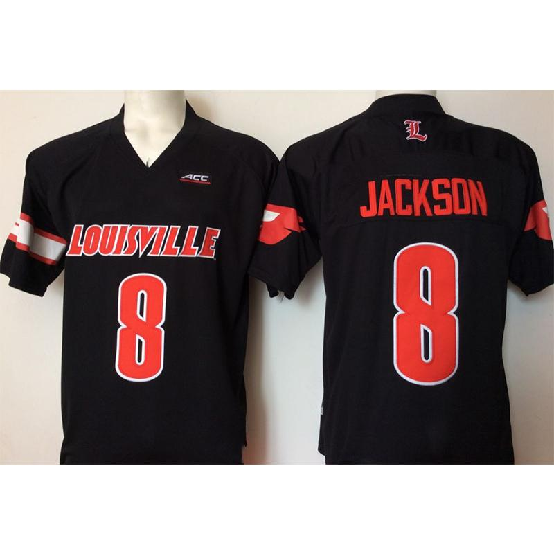 the best attitude 28724 d23af Mens Louisville Cardinals Lamar Jackson Stitched Name&Number American  College Football Jersey Size S-3XL