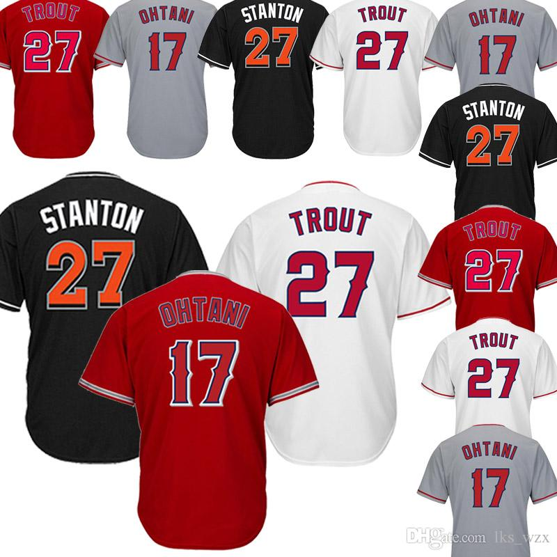 5b2d9ec6e 2019 The New Baseball Jersey Los Angeles Angels 27 Mike Trout Jersey  Embroidery Logo Top Quality Assurance From Lks wzx