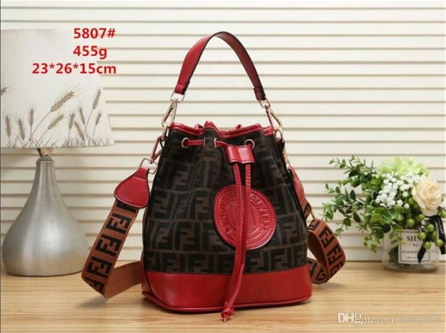 2019 New AAA Luxury Handbags Women Bags Designer Canvas Leather Crossbody  Bag For Women Shoulder Bag Drawstring Bucket Bag Letter Sac a Mai Fashion  Bag ... afbe83a454014